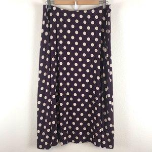 Boden  Skirt Polka Dot Rayon Spandex Blend Jersey